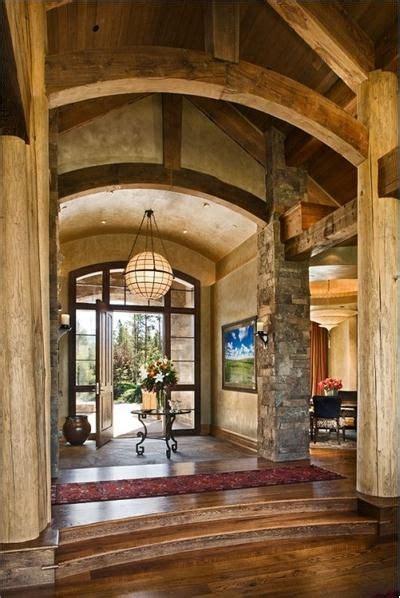 dramatic countryrustic foyer  lynette zambon carol