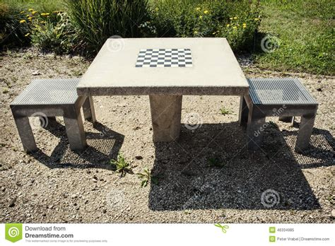 chess table and chairs