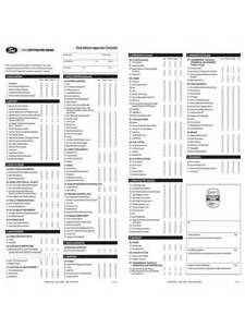 vehicle inspection checklist template 2 free templates