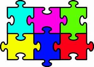 Puzzle Six Pieces Clip Art at Clker.com - vector clip art ...