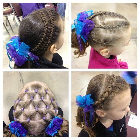 gymnastic meet hairstyles   gymnast