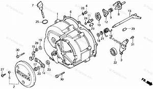 Honda Atv 1986 Oem Parts Diagram For Right Crankcase Cover