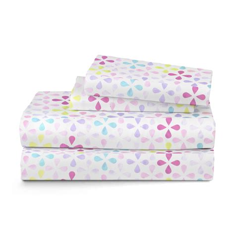 piper 3 piece twin sheet set owl purple home bed
