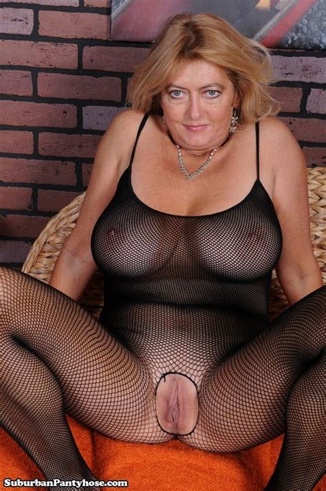 Mature Sweet Lady In Body Stocking Sexy Women In