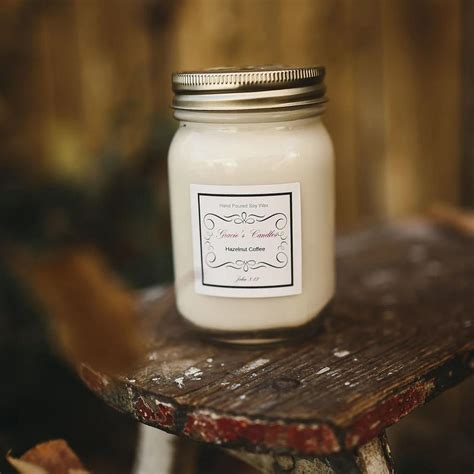 Even if you cannot have always fancy coffee machines at your place, we can provide that unique scent of a freshly brewed espresso with a candle to fill your spaces. Hazelnut Coffee Soy Candle 16oz. | Gracie's Candles ...