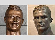 Nach verformter Figur auf Madeira Neue Skulptur von