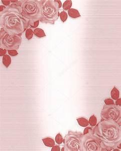 Pink roses wedding invitation stock photo c irisangel for 3d rose wedding invitations