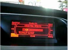 MMI basic plus monochrome radio function Audi A4 2009