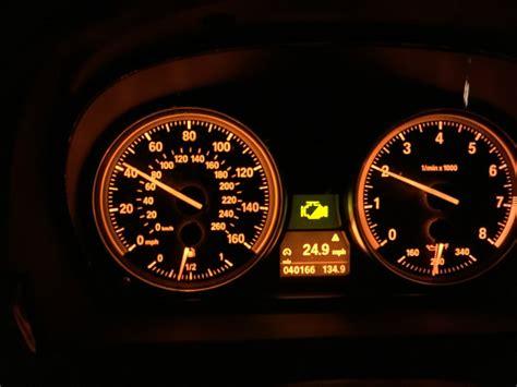 Half Yellow Engine Light Mini Cooper