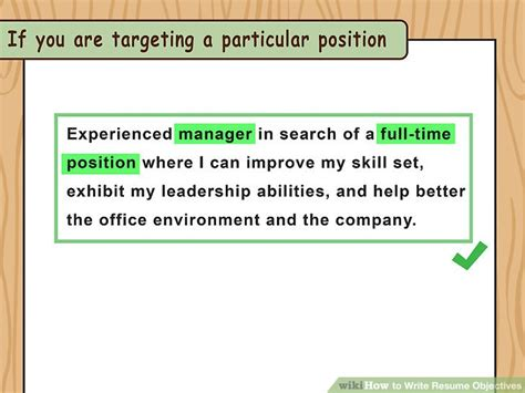 How To Write An Objective For Resume by How To Write Resume Objectives With Exles Wikihow
