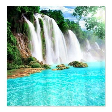 tropical waterfall shower curtain grace paradise