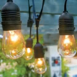 24 socket heavy duty commercial outdoor string light kit w for Exterior string lights commercial