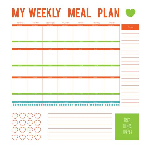 Free Weekly Meal Planner Template by 3 Simple Ways To Make Healthy Easier Fabulous
