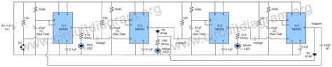 Traffic Light Project Using Timer Ics Circuit Diagram