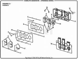 Homelite Ut905000sa 5000 Watt Generator Parts Diagram For