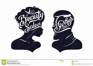 Hairdresser Man And Woman Scissors Concept Vector