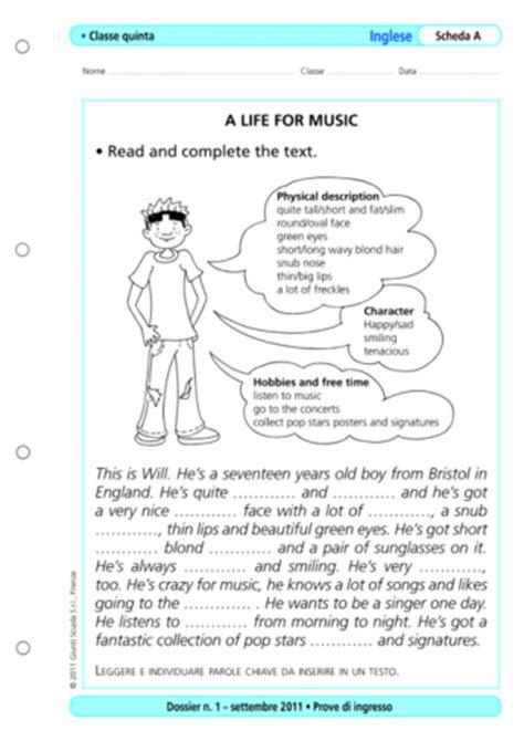 Test Ingresso Scuola Primaria - prove d ingresso inglese classe 5 la vita scolastica