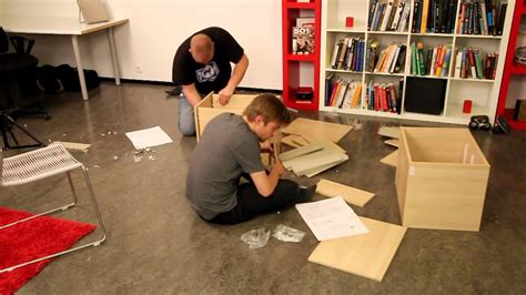 Two Drunk Guys Try To Assemble Ikea Furniture  Dead Drunk