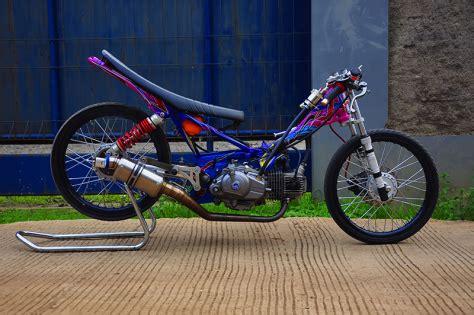Foto Gambar Drag by Modifikasi Yamaha New R Jadi Motor Drag Racing