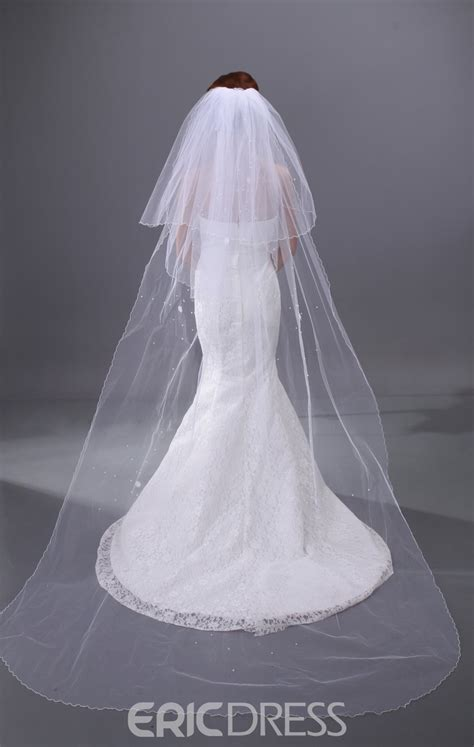 Simple Cathedral Wedding Veil 10497780