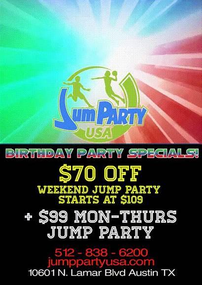Birthday Field Trampoline Jump Water Specials Trips