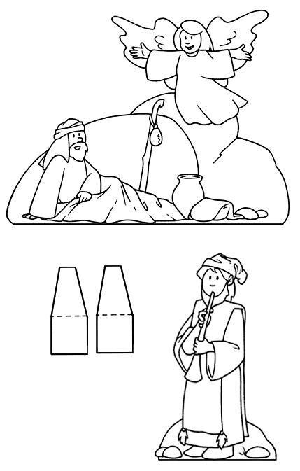 personaggi di da disegnare il presepe da colorare e ritagliare