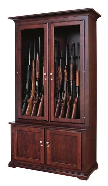 Wooden Gun Cabinets by Amish Handcrafted 12 Gun Cabinet From Dutchcrafters Amish
