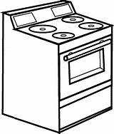 Stove Coloring Drawing Clipart Oven Cliparts Do2learn Pages Pan Template Clip Stoke Printable Sketch Drawings Library Getcolorings Paintingvalley Special Glass sketch template