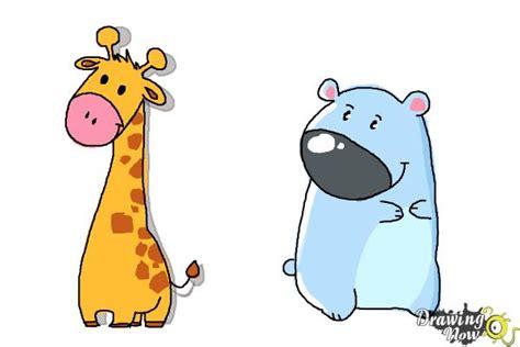 draw cute animals drawingnow