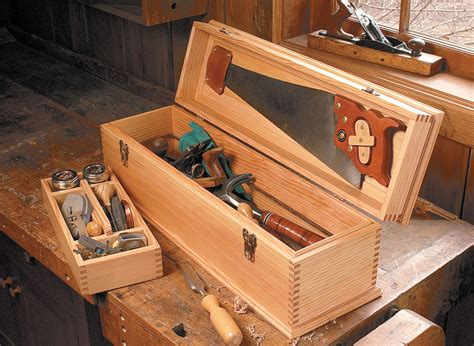 carpenters toolbox woodworking project woodsmith plans