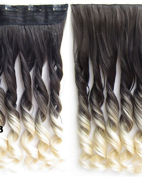 24 Inch Female Grace Long Curly One Piece 5 Clips Clip In