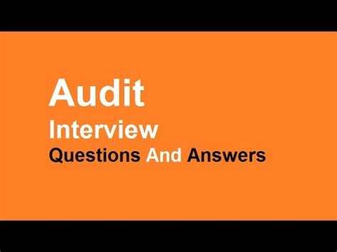Audit Questions And Answers by Audit Questions And Answers