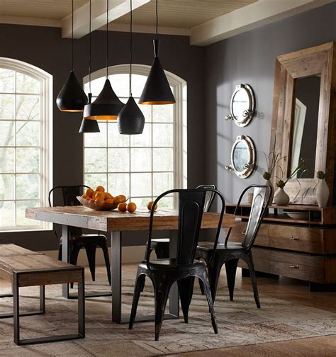 ways  create  trendy industrial dining room