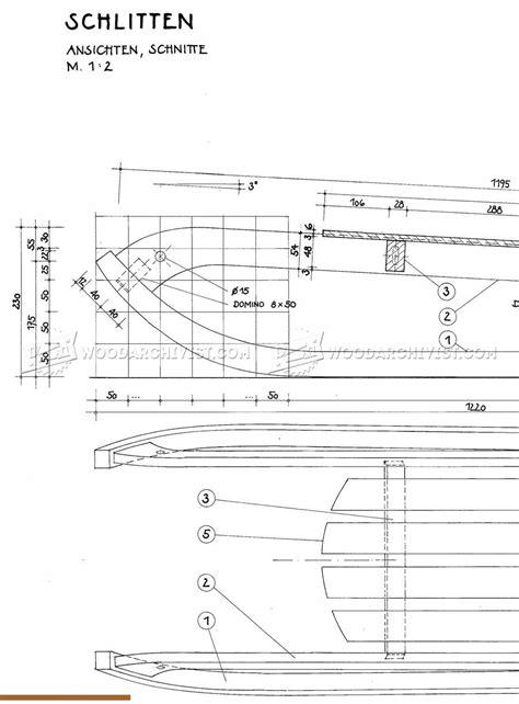 wooden sleigh plans woodarchivist