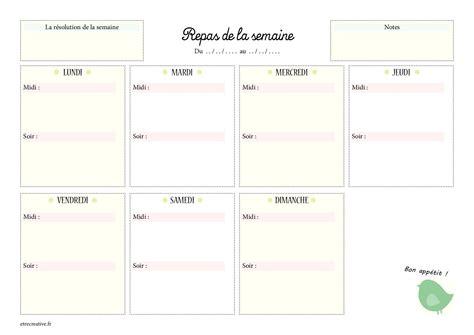 menu semaine cuisine az 8 modèles pour la planification hebdomadaire des repas