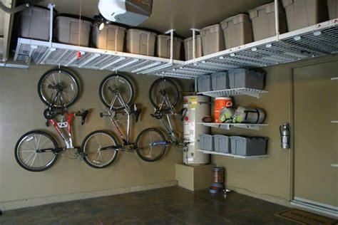 Garage Shelving Hanging by Garage Organization Ideas