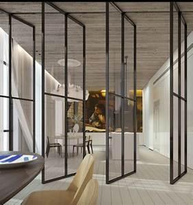 Porte En Métal : la porte coulissante en verre gain d 39 espace et esth tique moderne ~ Teatrodelosmanantiales.com Idées de Décoration