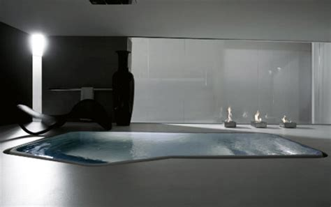 large luxury bathtub  small interior swimming pool