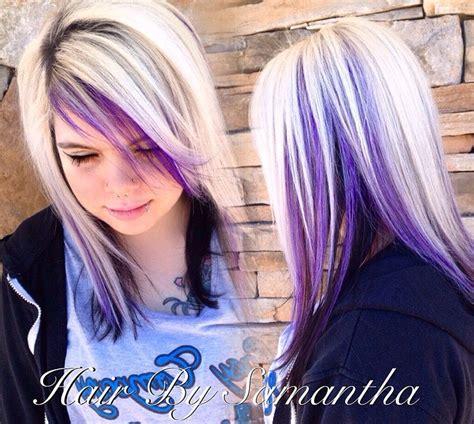 Best 25 Purple Peekaboo Hair Ideas That You Will Like On