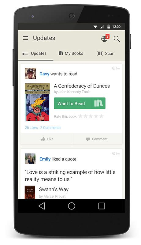 goodreads blog post meet  redesigned android app