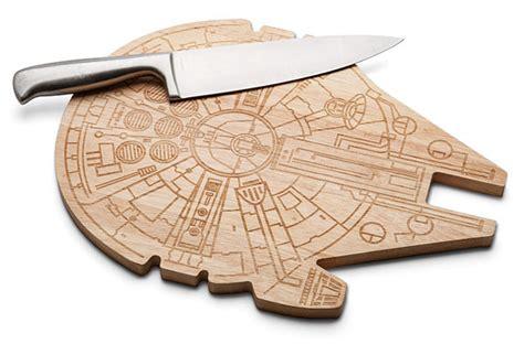 minecraft earrings wars millennium falcon wooden cutting board thinkgeek