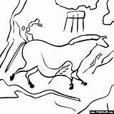 Cave Coloring Lascaux Clipart Paintings Caves Drawing Coloriage Sheets France Manneken Pis Famous Printable Thecolor Places Disegni Transparent Dessin Ligne sketch template
