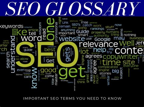 Seo Terms by Seo Glossary Important Seo Terms You Need To