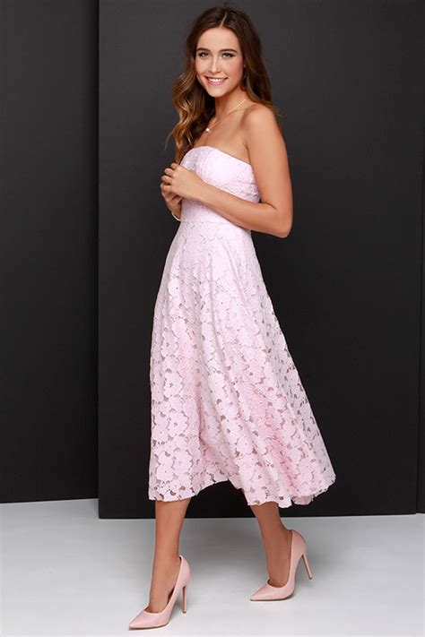 light pink midi dress bb dakota alva dress light pink dress lace dress