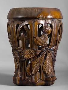 Art Nouveau Mobilier : rare tabouret art nouveau en c ramique d cor ajour de ~ Melissatoandfro.com Idées de Décoration