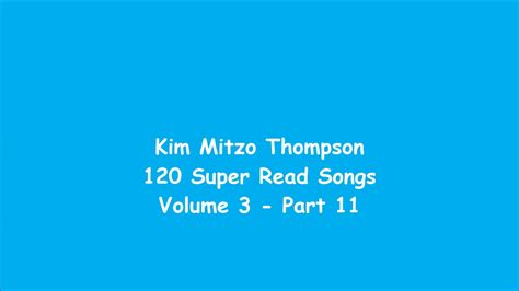120 Super Read Songs Volume Three