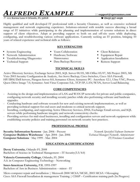 it functional resume sle to