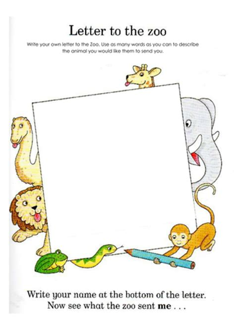 dear zoo letter writing template  tracie teaching