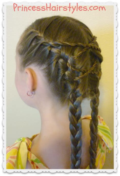 criss cross french braids hairstyle hairstyles  girls