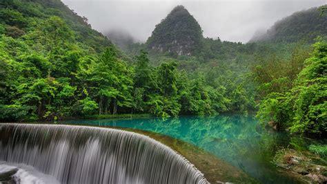 风景区,瀑布,山,森林河流,绿水,自然风景桌面壁纸高清大图预览1920x1080_风景壁纸下载_彼岸桌面